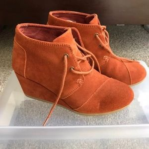 Toms Wedges Booties